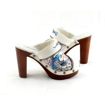 Extravagantní dámské dřeváky Ed Hardy za luxusní cenu s 52% slevou ... 6fd4bc9596